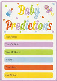baby shower pack of 15 baby prediction cards guess the