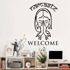 namaste home decor aliexpress com buy high quality indian yoga namaste vinyl wall