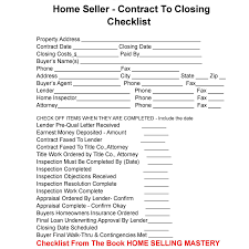 Home Design Client Questionnaire by Home Sellers Here Is Your Contract To Closing Checklist You Can