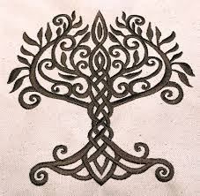 tree of celtic embroidery design sew fluffy machine