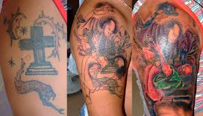 samurai in fight cover up arm design tattoomagz