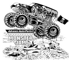 kids drawing monster jam truck coloring pages color luna