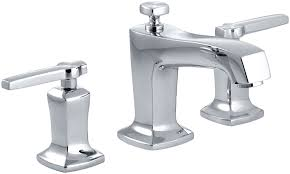 bathroom sink faucets amazon kohler k 16232 4 cp margaux widespread lavatory faucet polished