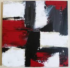 Tableau Abstrait Rouge Et Gris by Kontrast 1 Tabeau Abstrait Rouge Noir Blanc Peintures Par Le