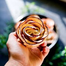 vegan apple rose tarts with cinnamon cream cheese