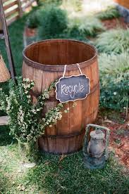 Backyard Country Wedding Rustic Country Wine Barrel Wedding Decor For Backyard Wedding