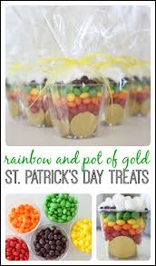 rainbow and pot of gold treat rainbow treats rainbows and saints