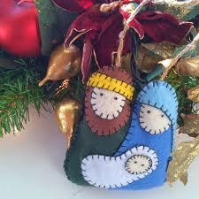 sewchic felt nativity ornament