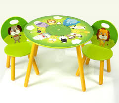 Toddler Table And Chair Sets Green Shade Round Toddler Table And Chairs Set With Cartoon