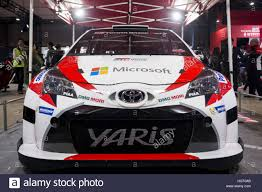 is toyota japanese tokyo japan 13th jan 2017 the new toyota yaris wrc with which