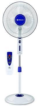 standing fan with remote buy bajaj victor vp r01 400mm pedestal fan white blue online at