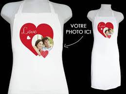 tablier de cuisine personnalisé photo tablier personnalisé décor amour de cuisine thema deco