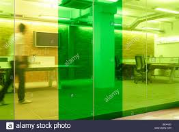 green yellow glass wall partition office stock photo royalty free