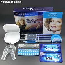 teeth whitening kit with led light professional teeth whitening kit with 4 gel 2 strips 1 led light