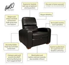 home theater recliner chairs bell u0027o double arm reclining chair home theater seating walmart com