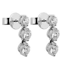drop diamond earrings 1 19ct f i1 three drop diamond earrings