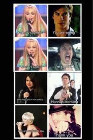 Hannah Montana Memes - epic damon salvatore hannah montana selena gomez and pink 3