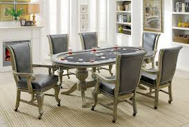 melina casino style interchangeable game card table