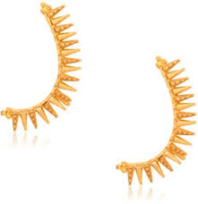 gold kaan earrings buy senco gold 22k yellow gold drop earrings online at low prices
