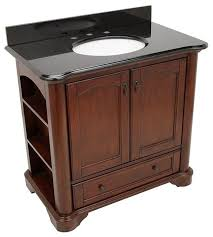 36 In Bathroom Vanity With Top by Pegasus Vermont 36in Vanity With Granite Vanity Top Black And