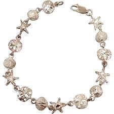 sterling silver star bracelet images Beach bracelet sterling silver star fish vintage bracelet sand jpg