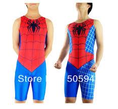 wholesale men u0027s spiderman wrestling singlet red u0026blue catsuit