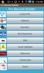 Resume Builder App For Android Amazon Com Resume Builder Elite Appstore For Android