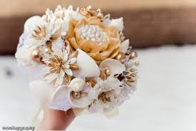 seashell bouquet unique wedding idea non floral wedding bouquets budget brides