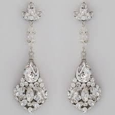 Chandelier Wire Earrings Thesecretconsul Com Wedding Earrings Chandelier Bridal Vintage Pertaining To Elegant