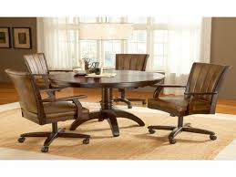 dining room table with swivel chairs leather dining room chairs with casters dining room table caster