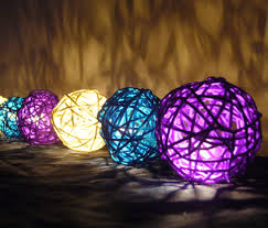rattan ball fairy lights purple white blue rattan string lights http flowerglow com