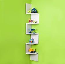 wall corner shelves organizer shelf white living room office