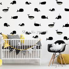 stickers de pour chambre or baleine mur motif stickers autocollants amovible vinyle wall
