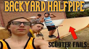 backyard halfpipe scooter edit youtube backyard ideas