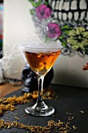 sweet martini dia de los muertos martini marigold martini