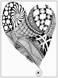 hearts coloring 4 pergamano coloring
