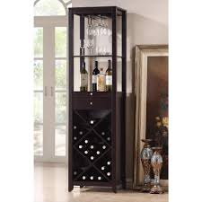 Espresso Bar Cabinet Baxton Studio 24 Bottle Brown Bar Cabinet 28862 3801