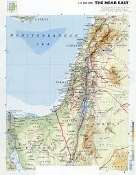 Physical Map Of Asia by Large Detailed Physical Map Of Israel Israel Asia Mapsland