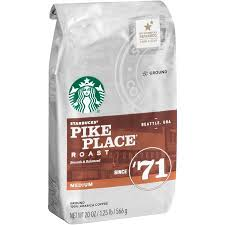 Starbucks Light Roast Starbucks Pike Place Roast Medium Ground Coffee 20 0 Oz Walmart Com