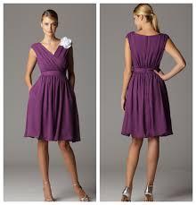 plum color junior bridesmaid dresses