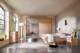 chambre en bois blanc lit contemporain en bois raveo nolte