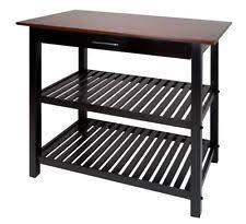 kitchen portable island cart meryland white modern wood table top