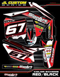 custom motocross helmet jl custom graphic kit honda mx graphic kits