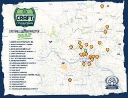 Map Of Cincinnati The Cincinnati Brewery Passport Craft Connection Brewery Tours