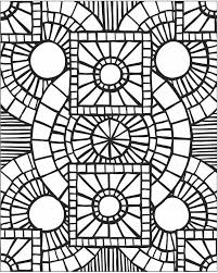 mosaic coloring pages bestofcoloring com