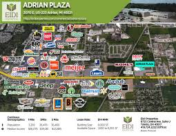 Adrian Michigan Map by Adrian Plaza U2013 Eidi Properties