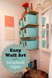 Room Decorating Ideas With Paper Easy Wall Art With Scrapbook Paper Jpg
