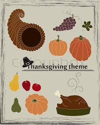 thanksgiving theme in vector stock vector colourbox