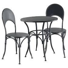 Black Bistro Chairs View In Gallery Marseille Black Steel Three Piece Bistro Set