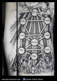 kabbalah tree heaven and hell tattoo by redtrujillo on deviantart